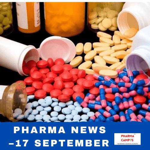 Pharma news –17 September