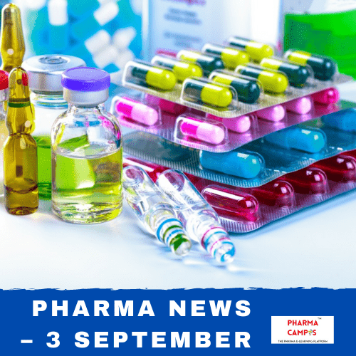 Pharma news – 3 September 2020